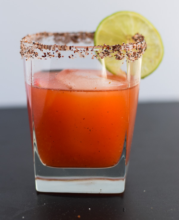 Strawberry Chipotle Margaritas